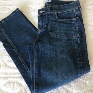 White House Black Market Bermuda Short Noir Jeans